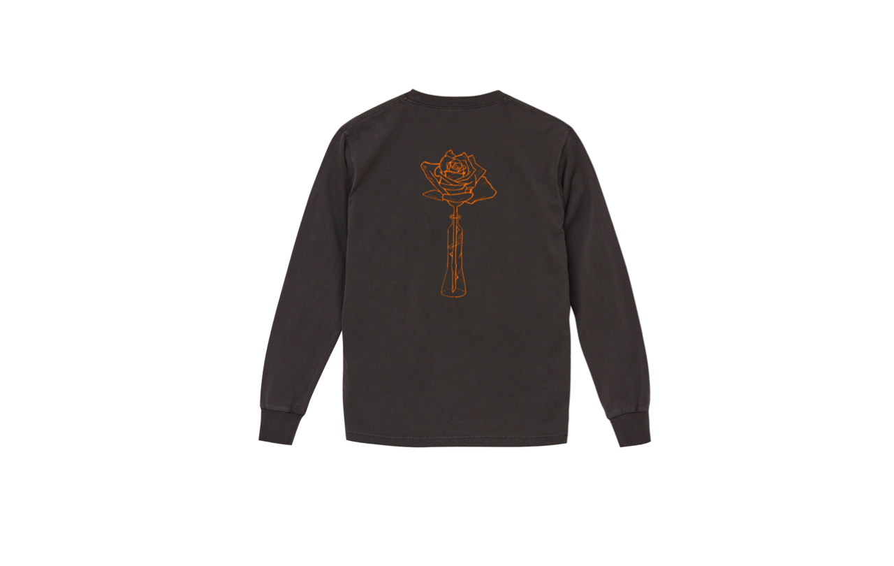 coguchi rose long tshirts (bk/or)