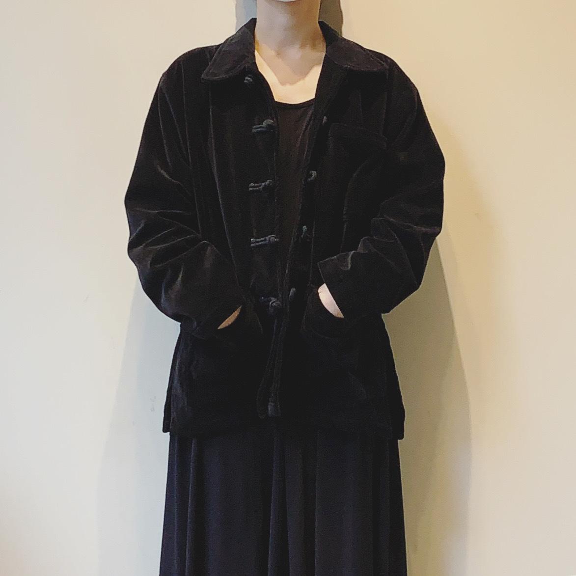 vintage china design velour jacket
