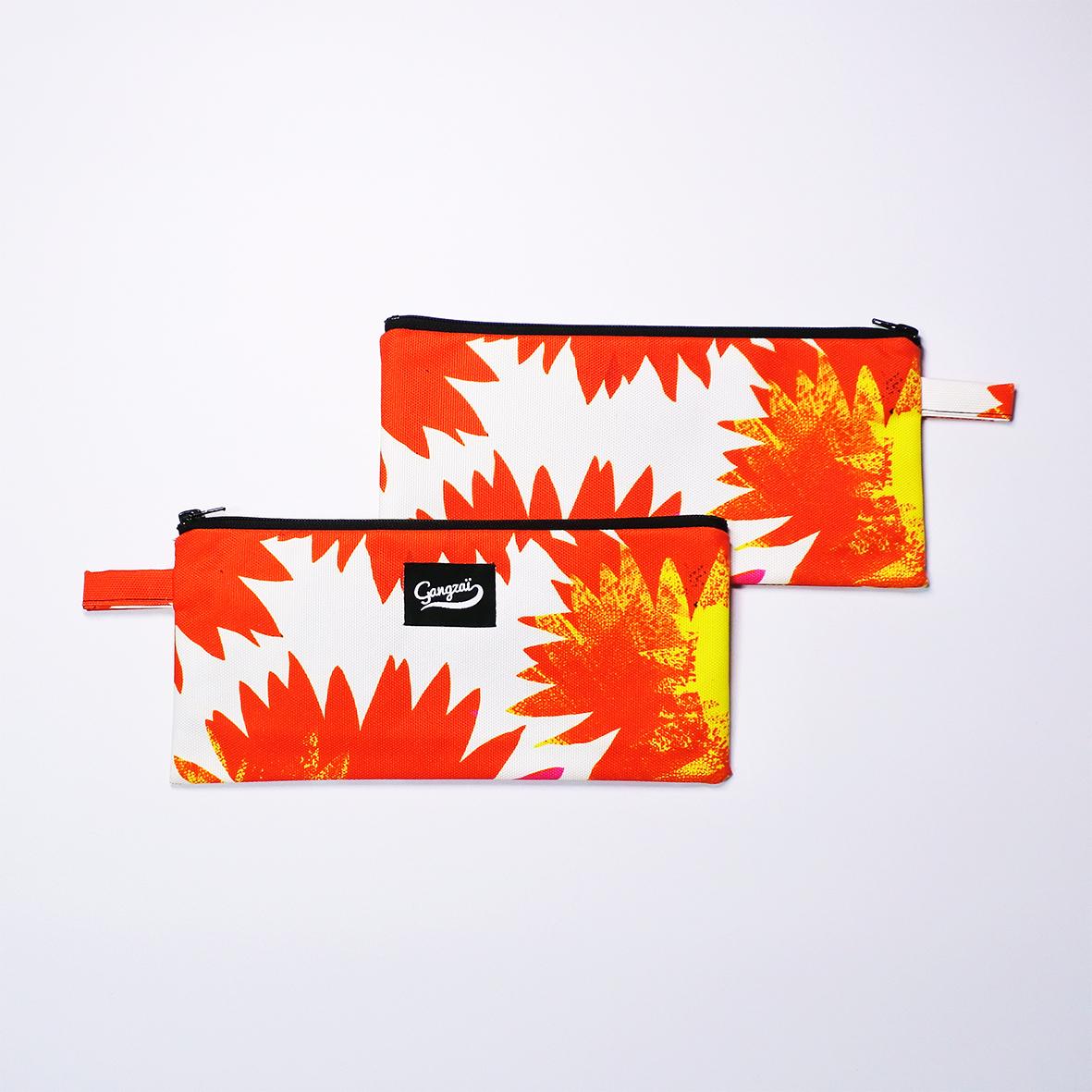 <Gangzai>ペンケース RED SUNFLOWERS