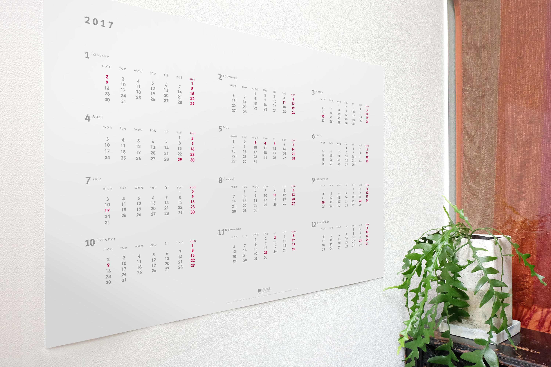 2017年12ヶ月ポスターカレンダー