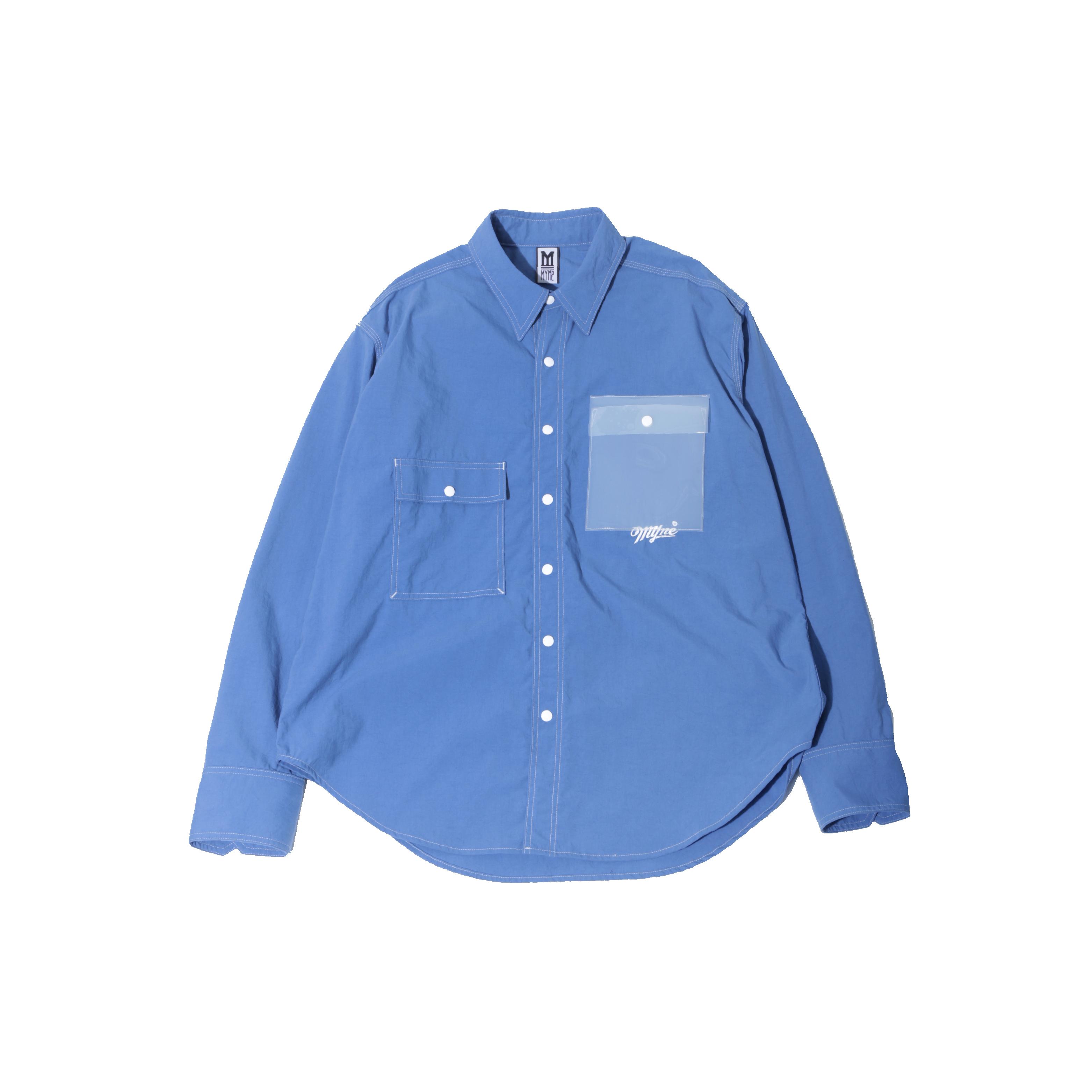 CLEAR POCKET SHIRT / BLUE - 画像1