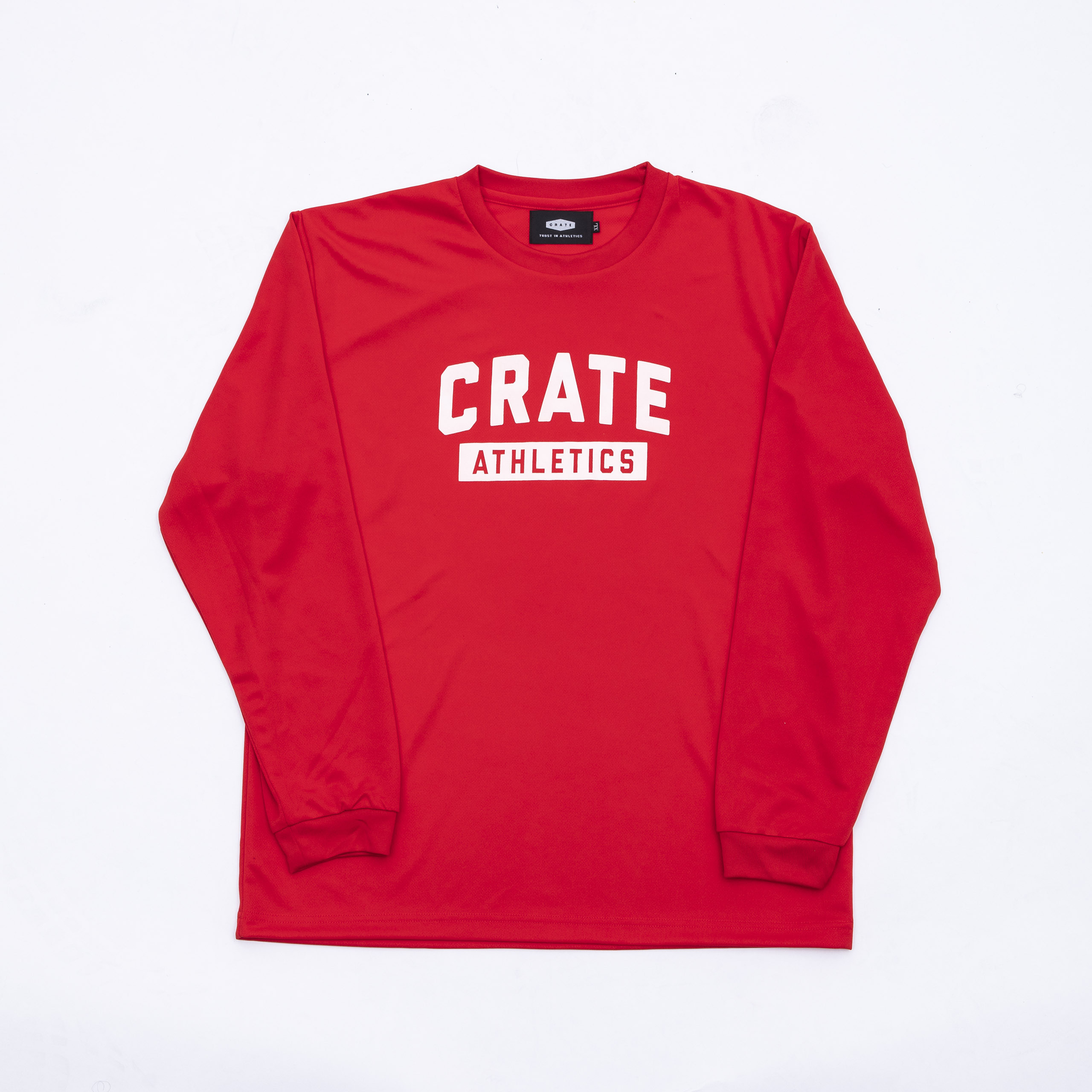 Crate Athletics Mesh L/S Tshirt Red