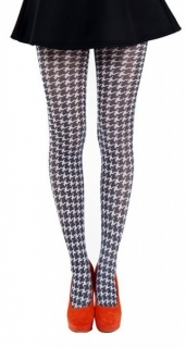 英国PAMELA MANN Dogtooth Printed Tights