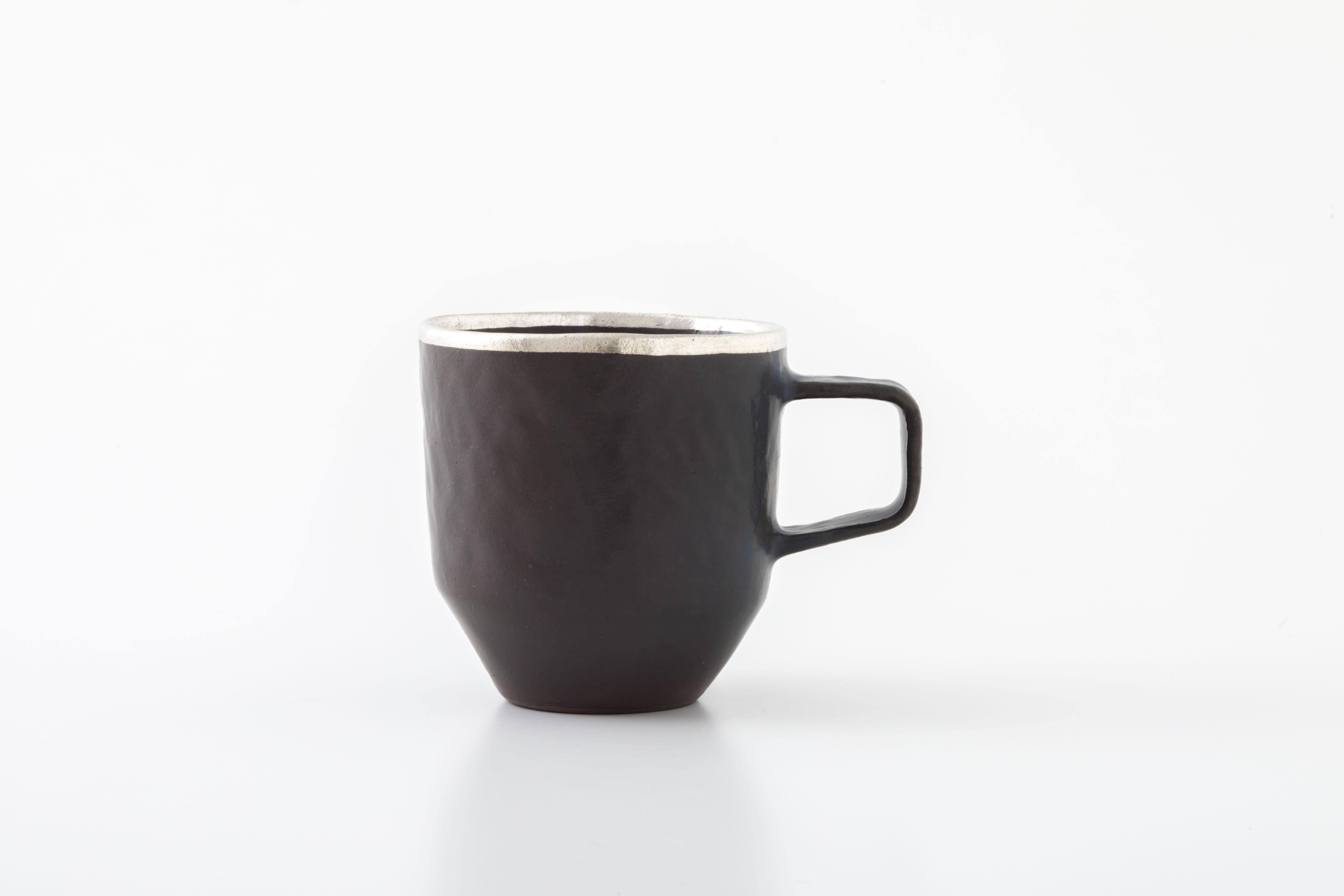 stacking mug:銀縁(03-1) / holk store × 中囿義光