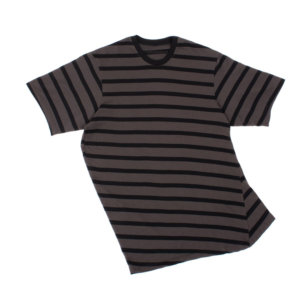 707CUM3-CHARCOAL×BLACK / ストライプロング Tシャツ