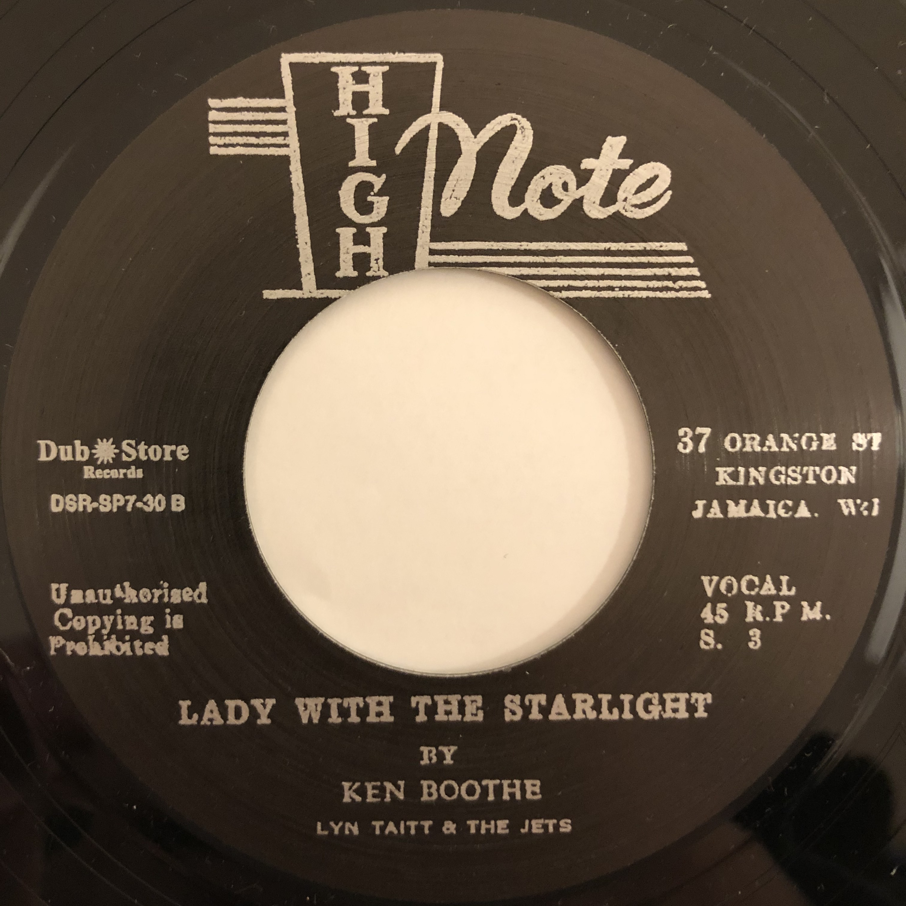 Ken Boothe - Lady With The Starligh【7-20457】