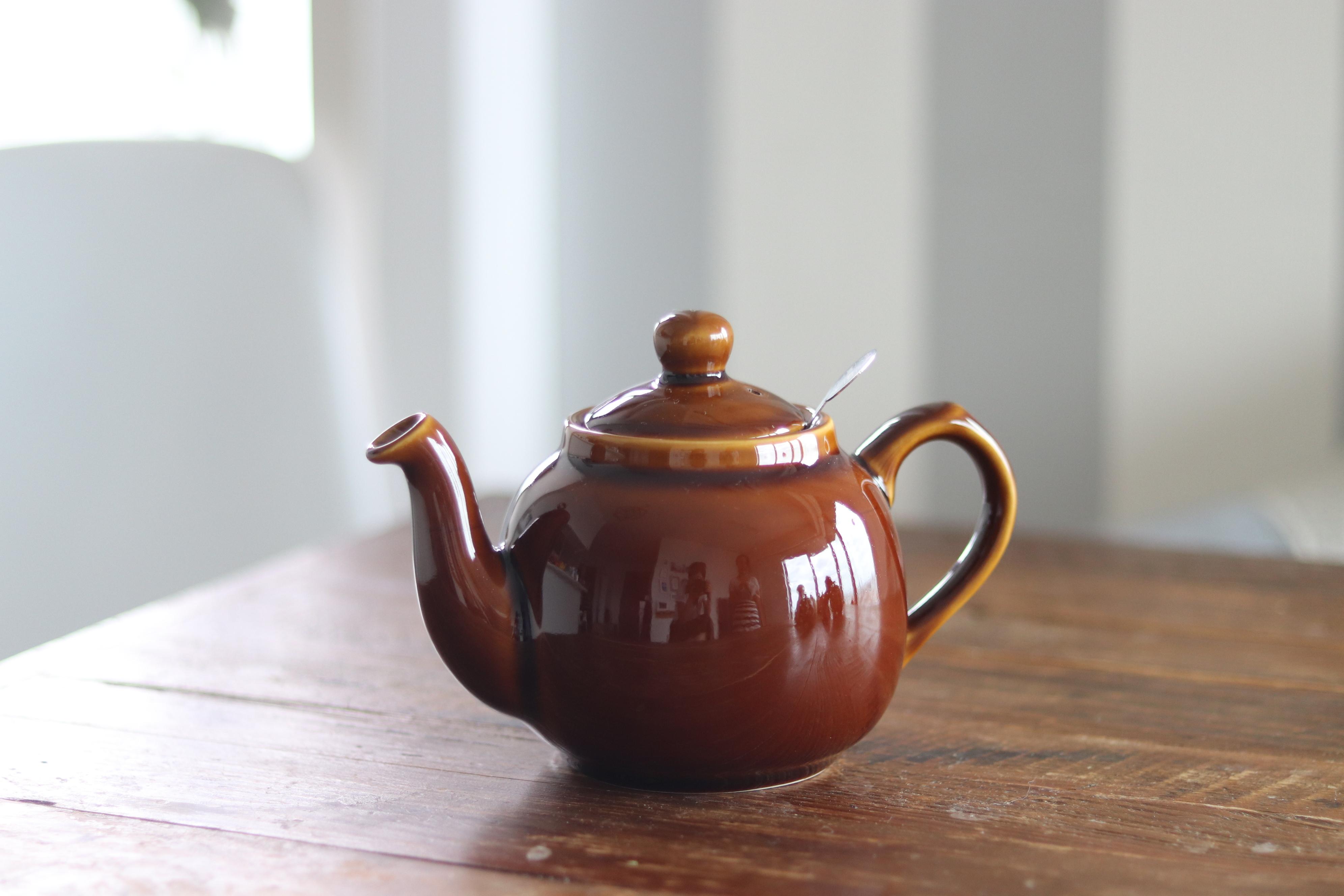 ティーポット 2カップ 550ml ロッキンガムブラウン
