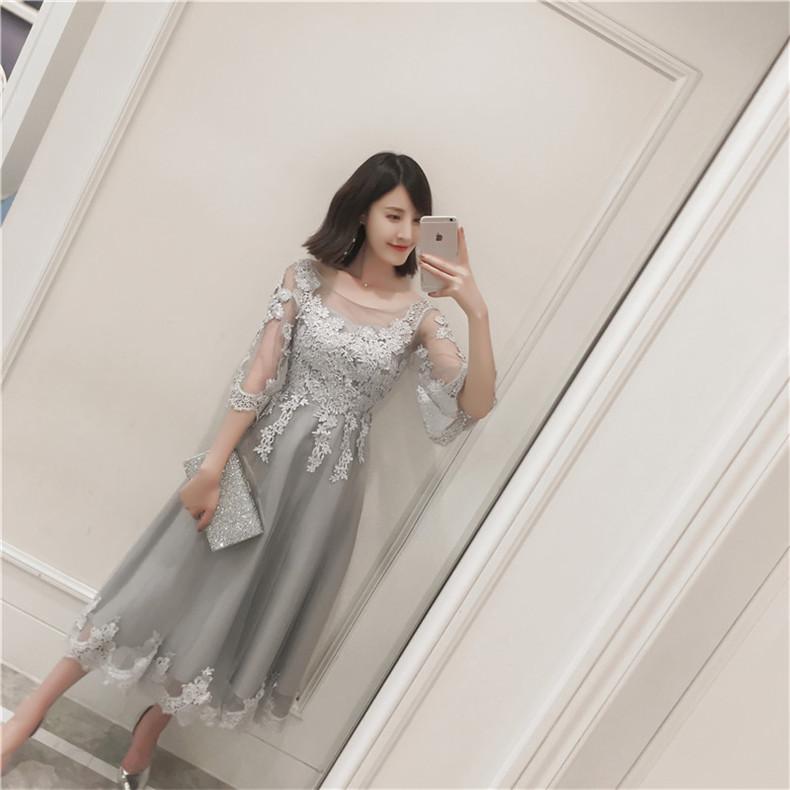 フラワーモチーフレース ◇ シルバードレス ワンピース