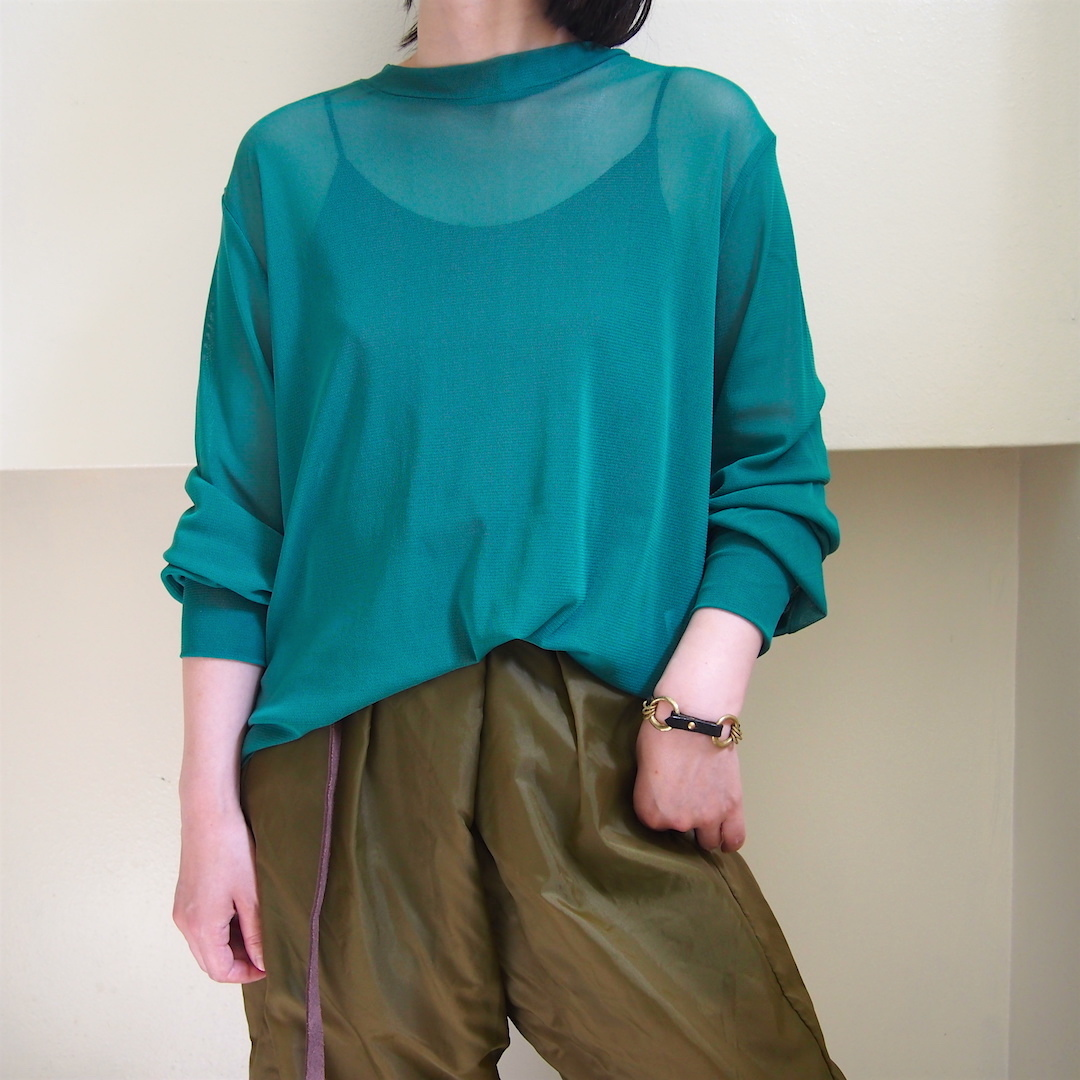【hippiness】tulle long sleeve(green) /【ヒッピネス】チュール ロングスリーブ(グリーン)
