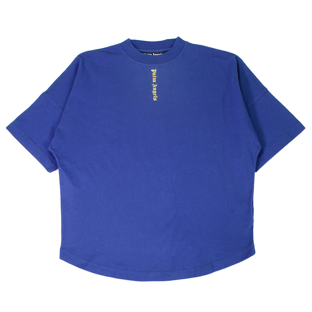 PALM ANGELS NS Logo Over Tee Navy