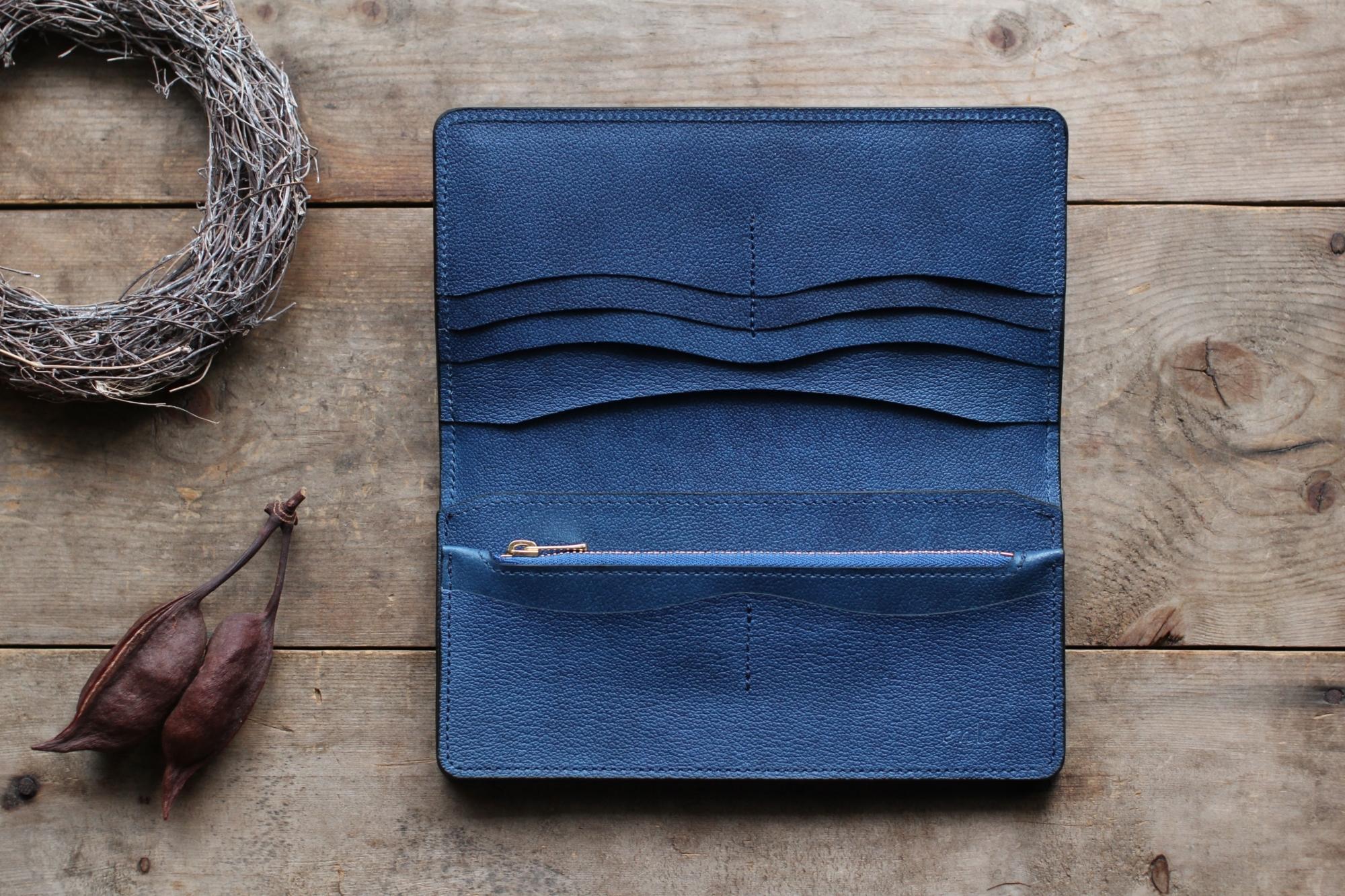 藍染革[shiboai] 長財布
