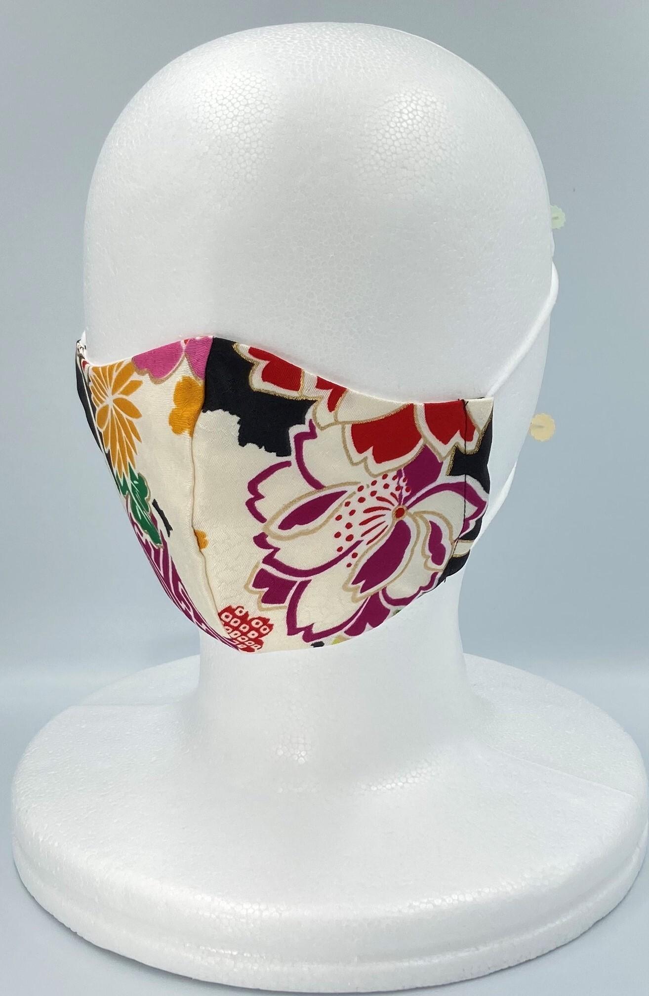 リメイク着物マスク A012