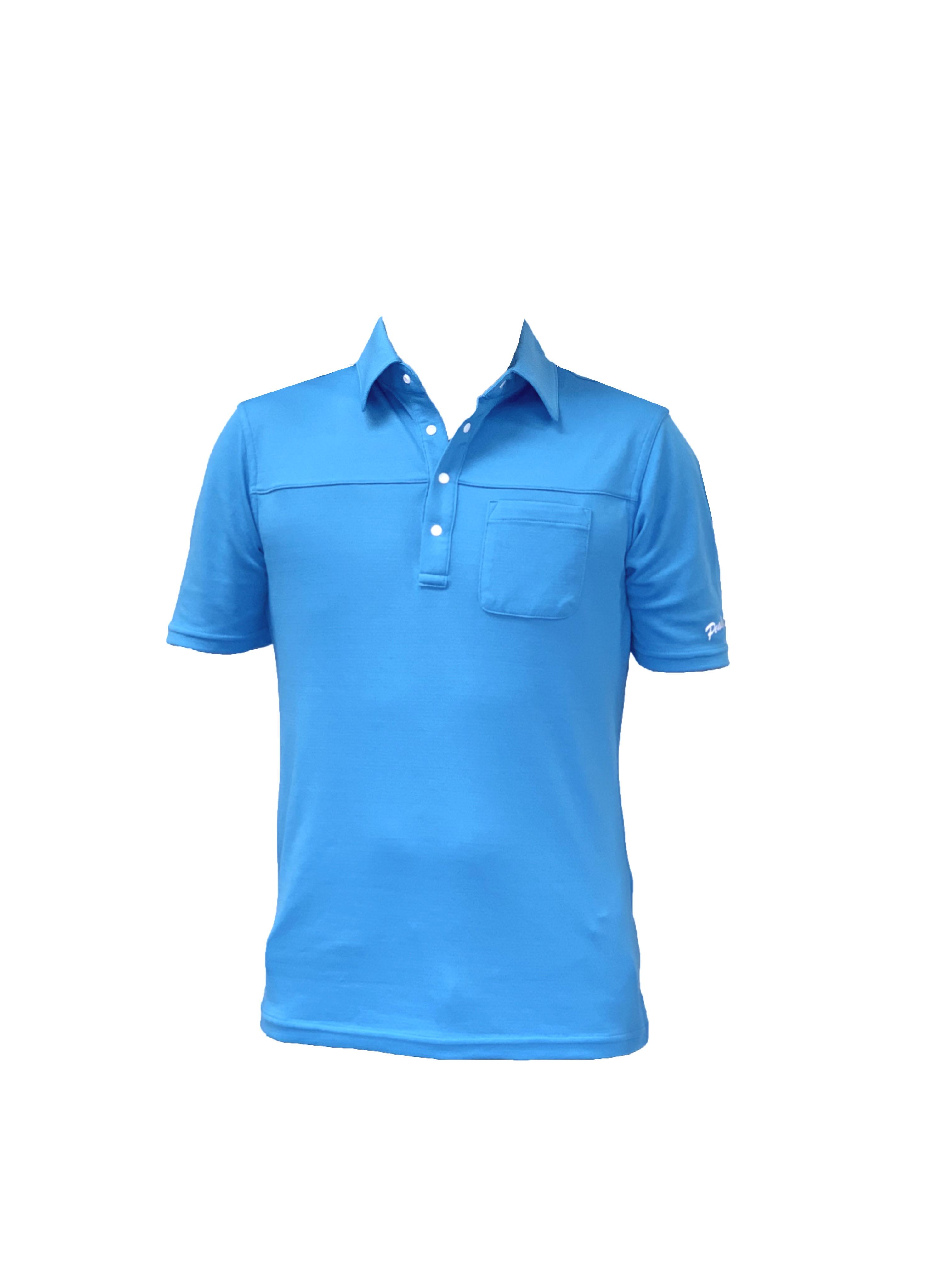 P819SS01 接触冷感 メンズポロシャツ(ブルー)