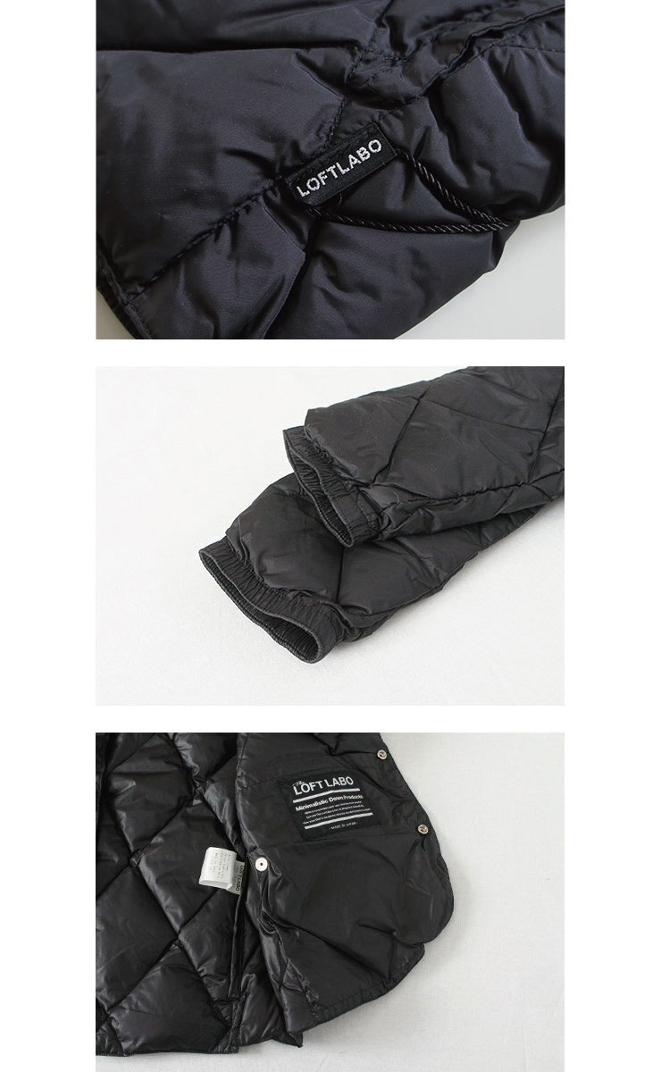 TheLoftlabo ロフトラボ HALEE-2 BLACK レディース ダウン ジャケット 秋 冬 通販 【返品交換不可】 (品番tl17fjk15)