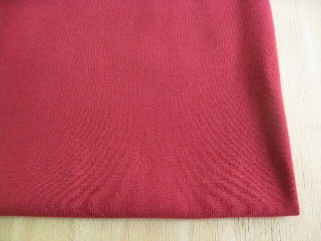 J&B定番綿コーマ糸40双糸天竺ニット ルビーレッド(少し明るめのトゥルーレッド) NTM-2620