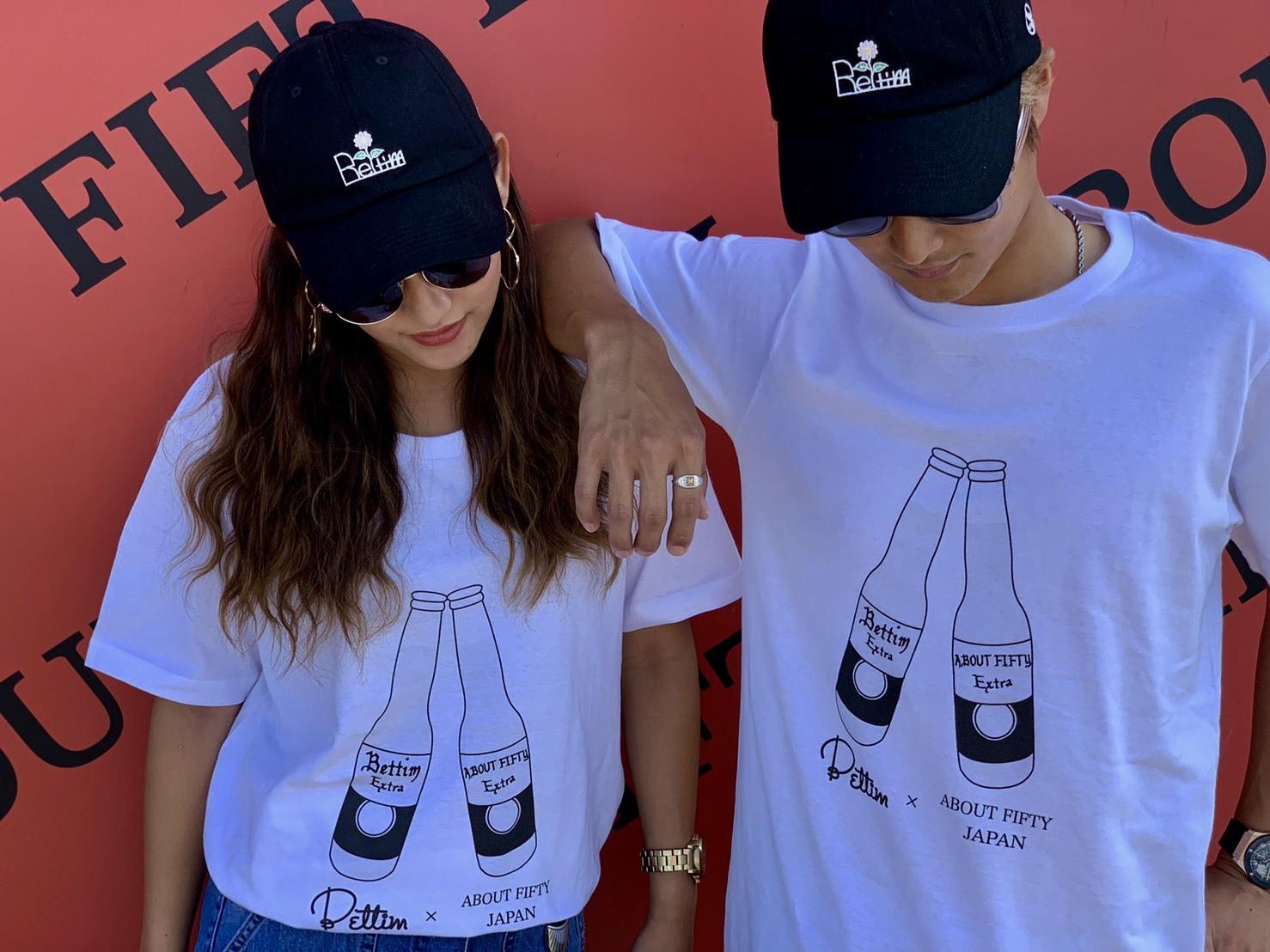 Bettim × ABOUT FIFTY コラボTシャツ
