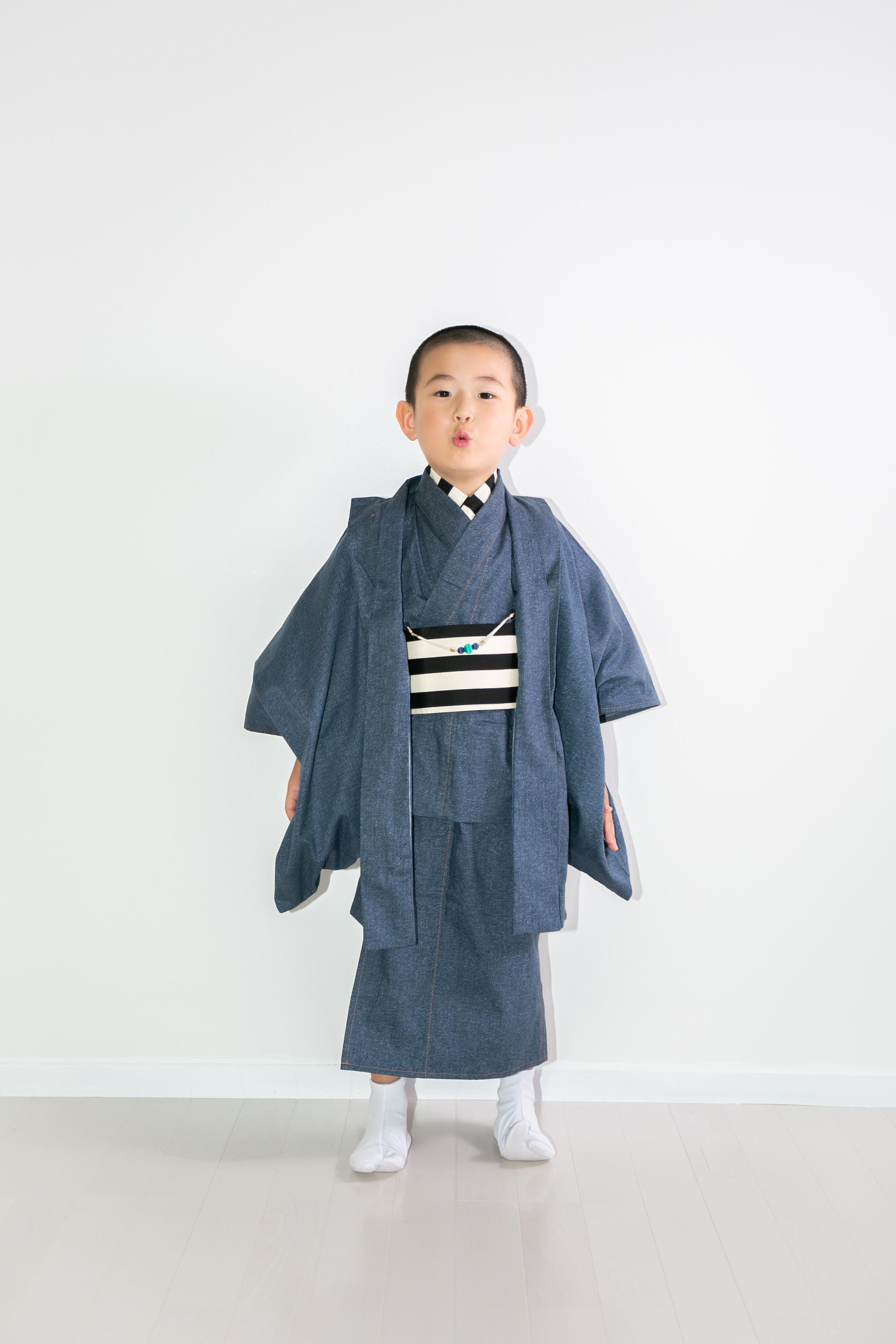 5月10日再販! デニム 男子 羽織袴7点セット