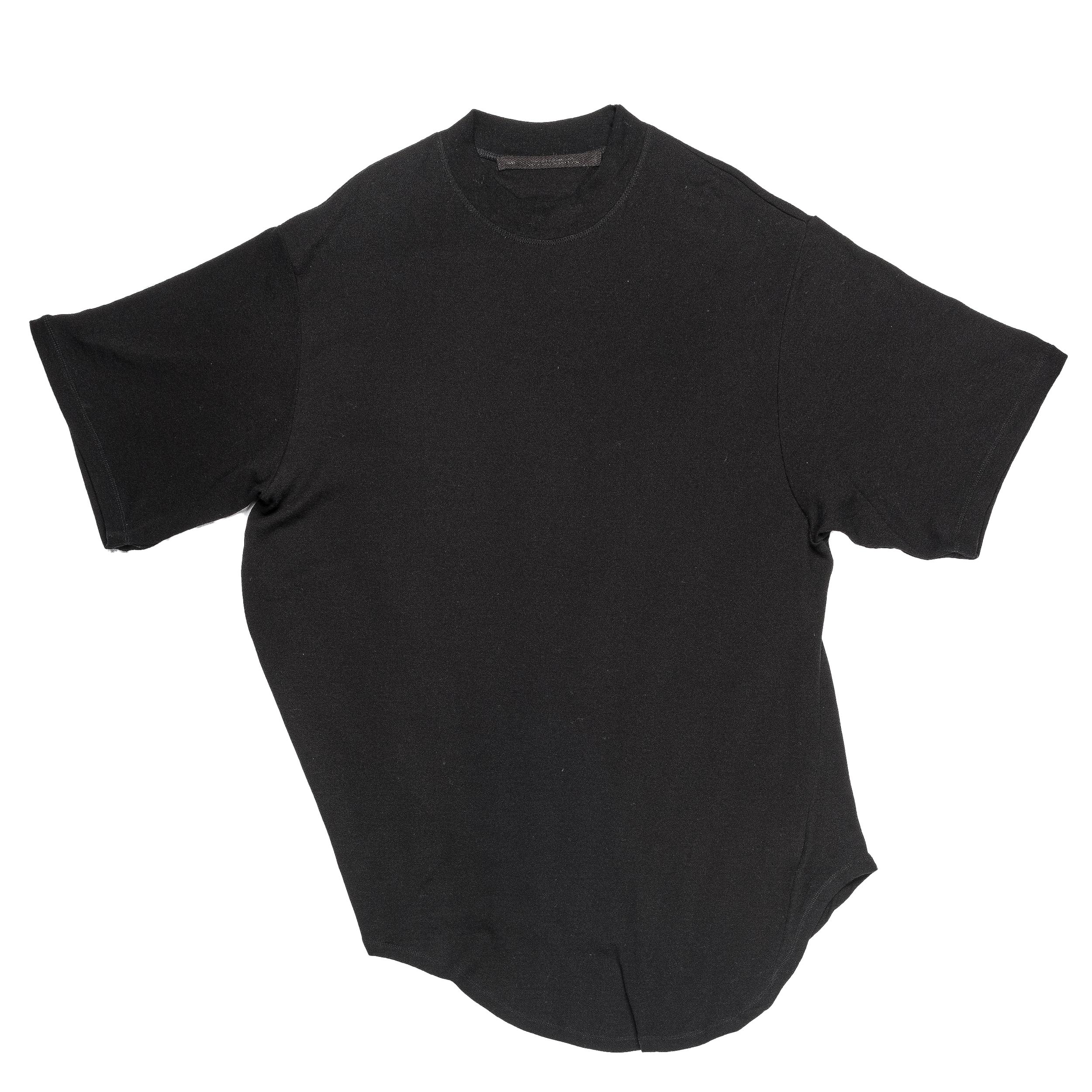 667CUM10-BLACK / ドレーピング Tシャツ