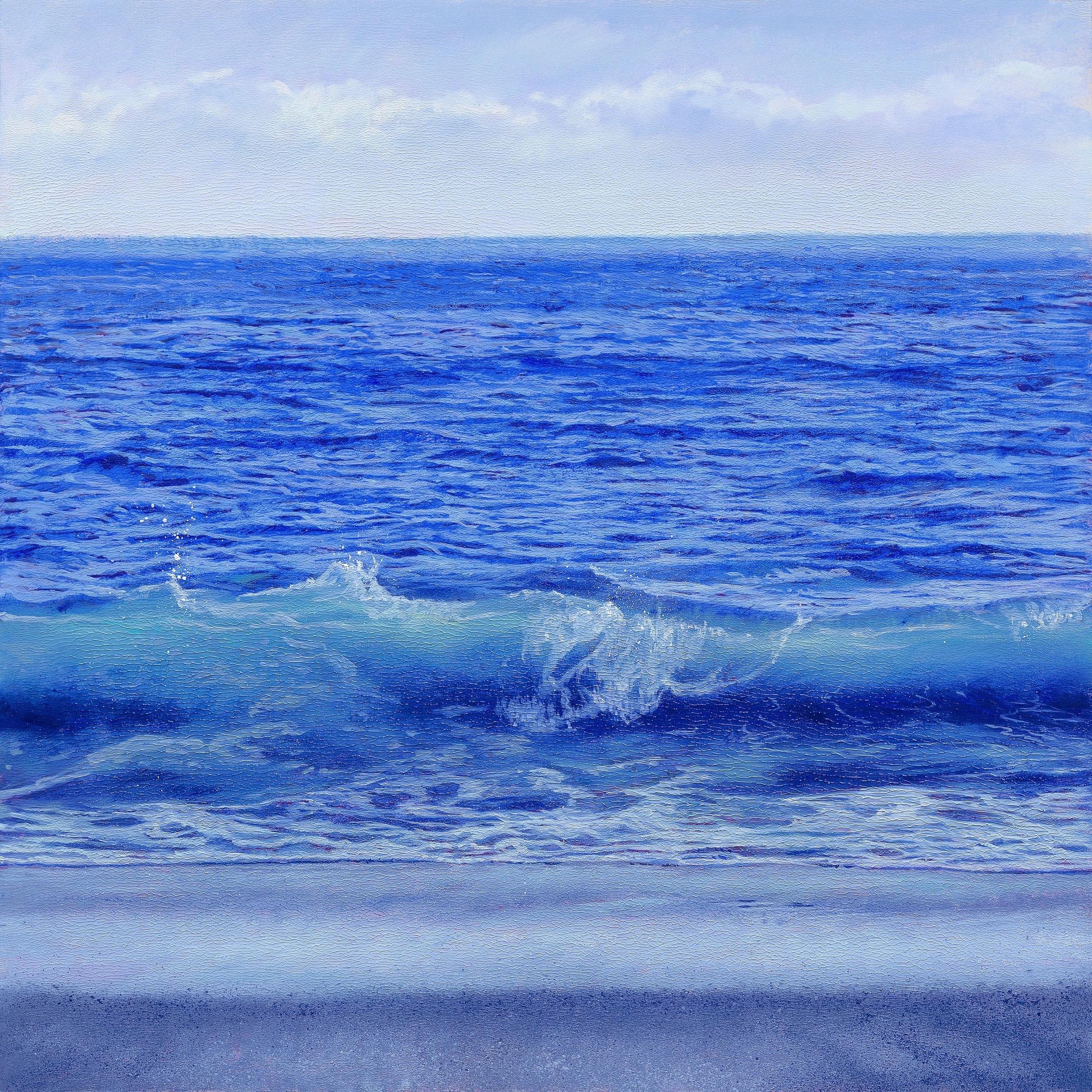 「匿名の地平線-ver.blue-」版画作品