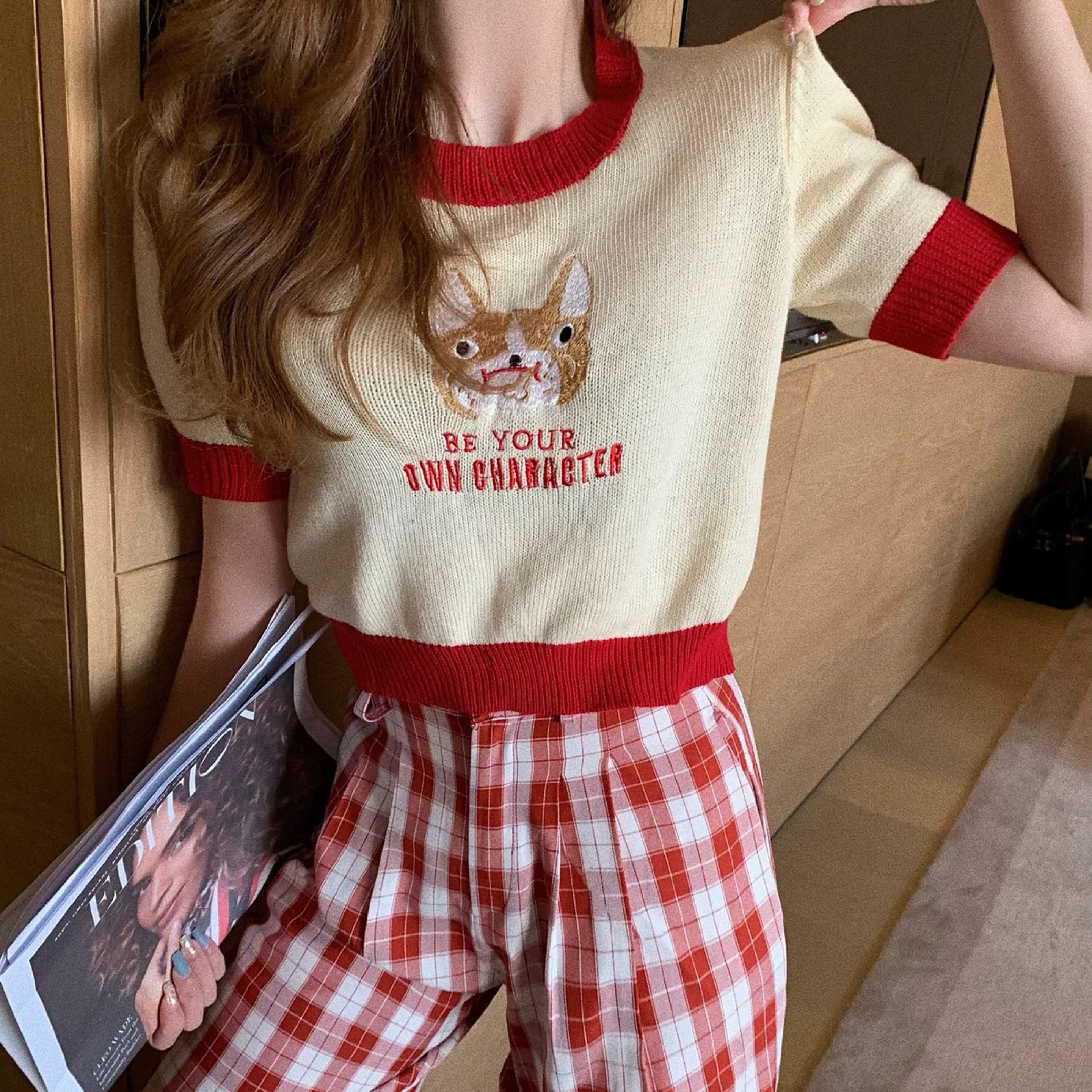 animal embroidery tops