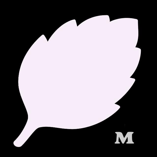 葉っぱ型(M)★ライトピンク