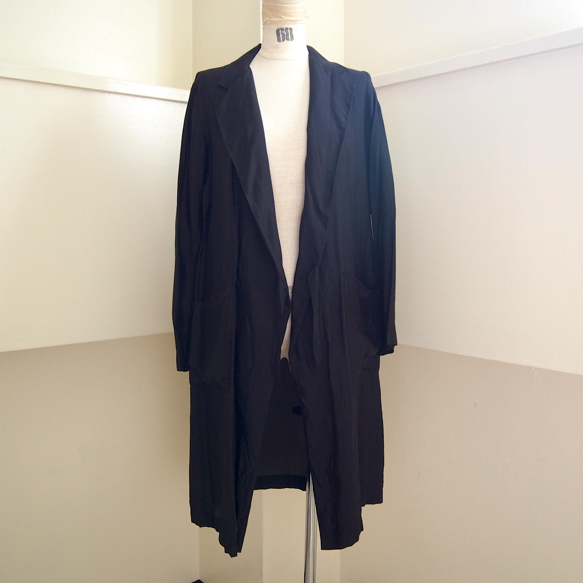 【hippiness】cupro coat(30black) /【ヒッピネス】キュプラコート(30ブラック)