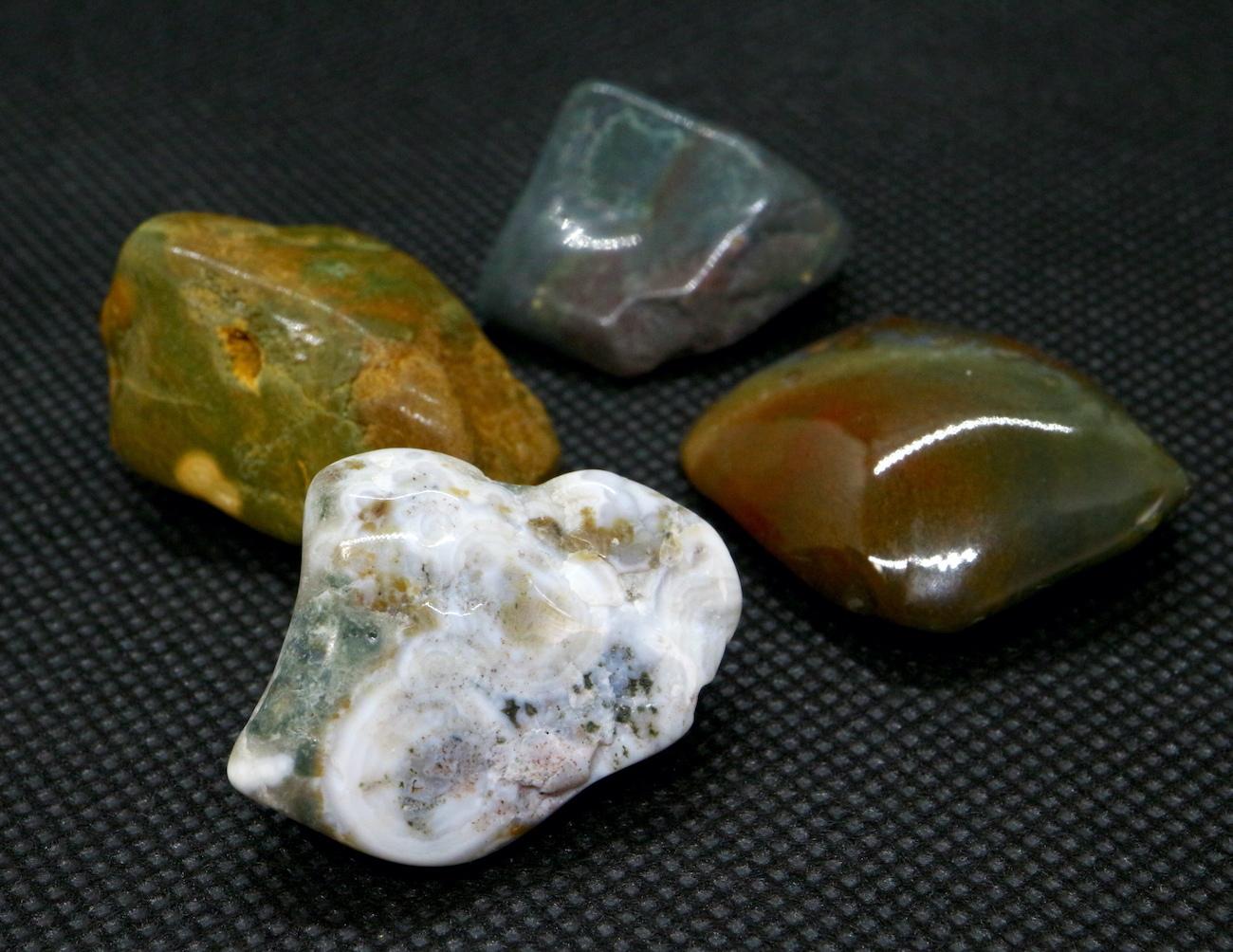 4つセット!オーシャンジャスパー 研磨 マダガスカル産 合計40.2g OJ017 原石 鉱物 天然石 パワーストーン
