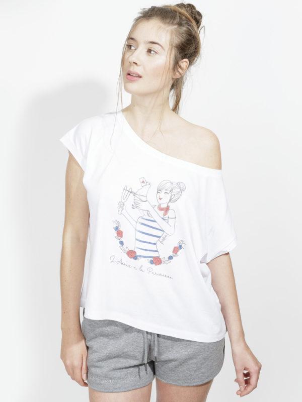 フランス製Tシャツ『L'AMOUR A LA PARISIENNE BLANC』