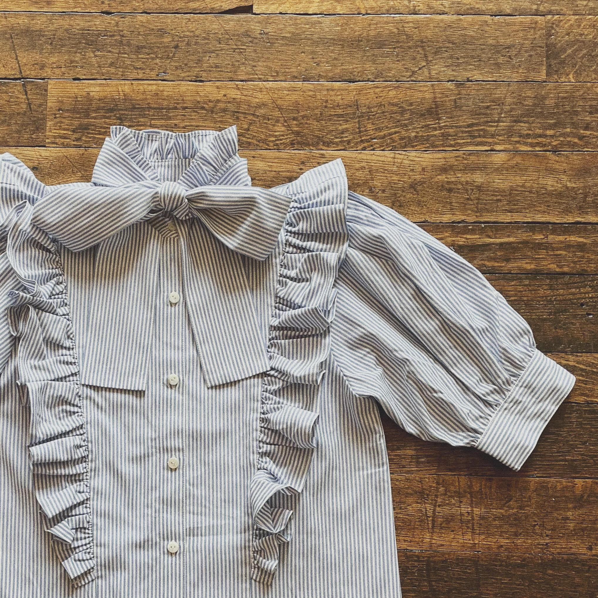 Désir original 2way ribbon short sleeve blouse