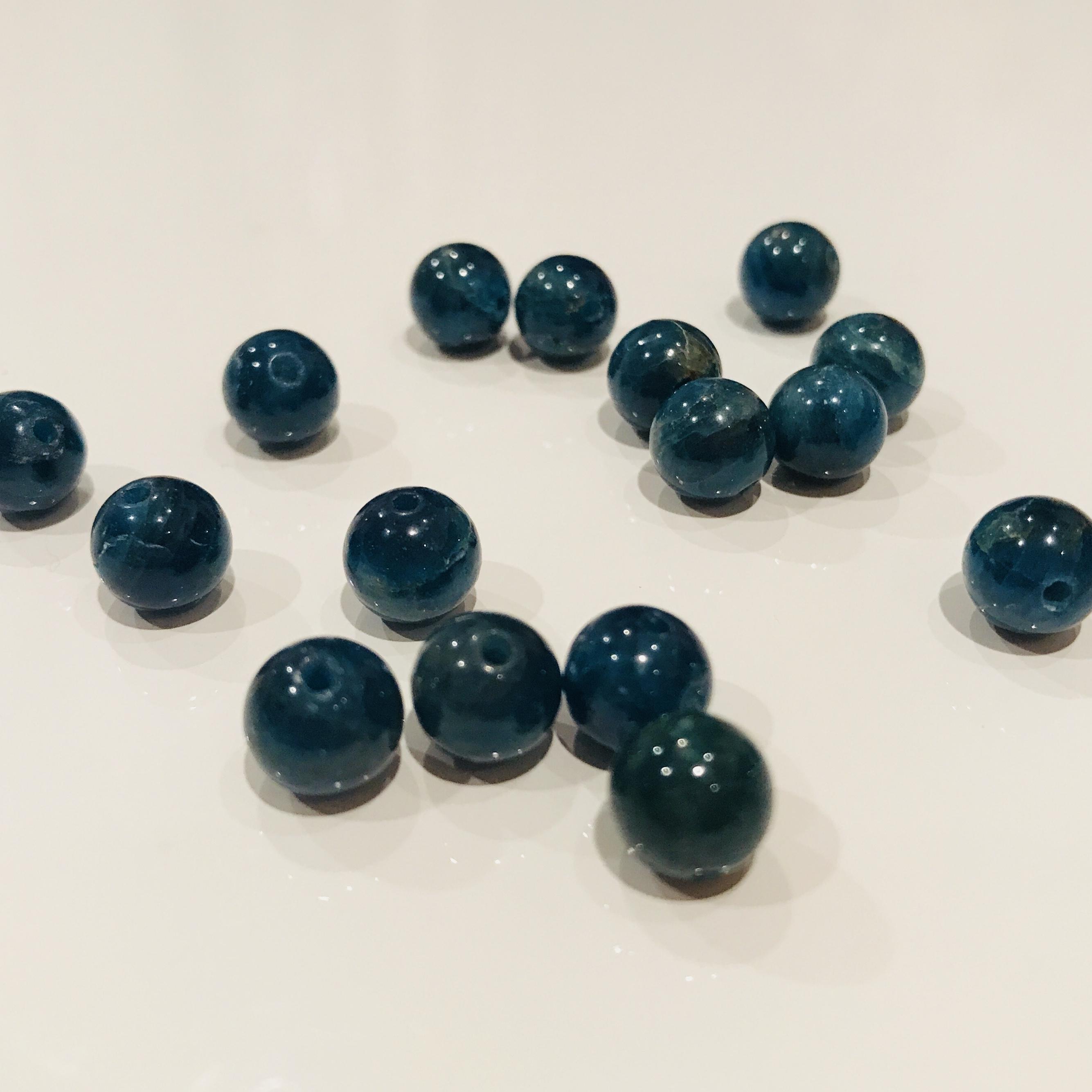 癒しの石|ブルーアパタイト 8mm玉