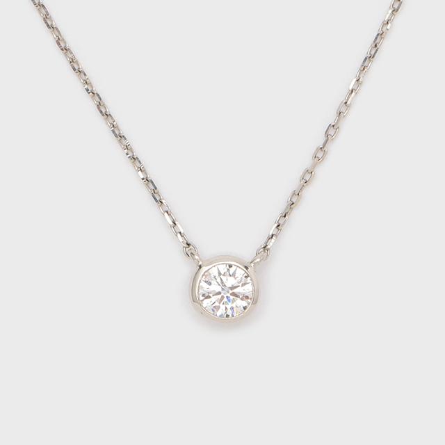 ENUOVE frutta Diamond Necklace K18WG(イノーヴェ フルッタ 0.25ct K18ホワイトゴールド フクリン留めダイヤモンドネックレス アジャスターワカンチェーン)