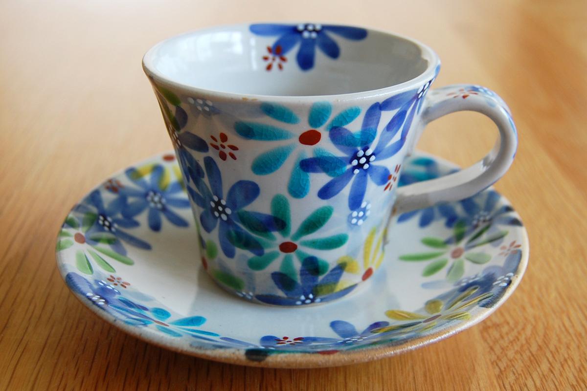 カップ&ソーサー 花の宴-utage-青