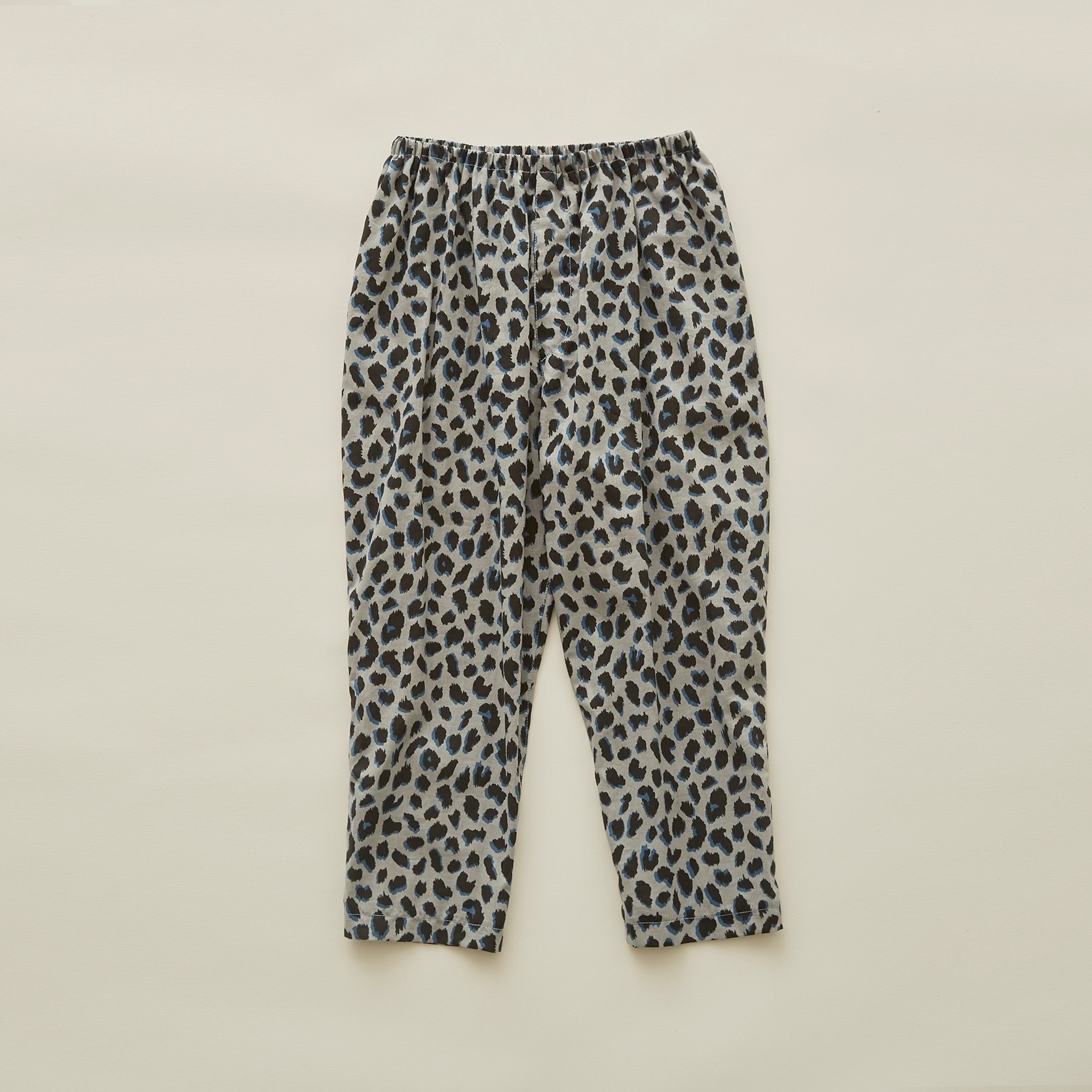 《eLfinFolk 2020SS》leopard pants / gray / 80-100cm