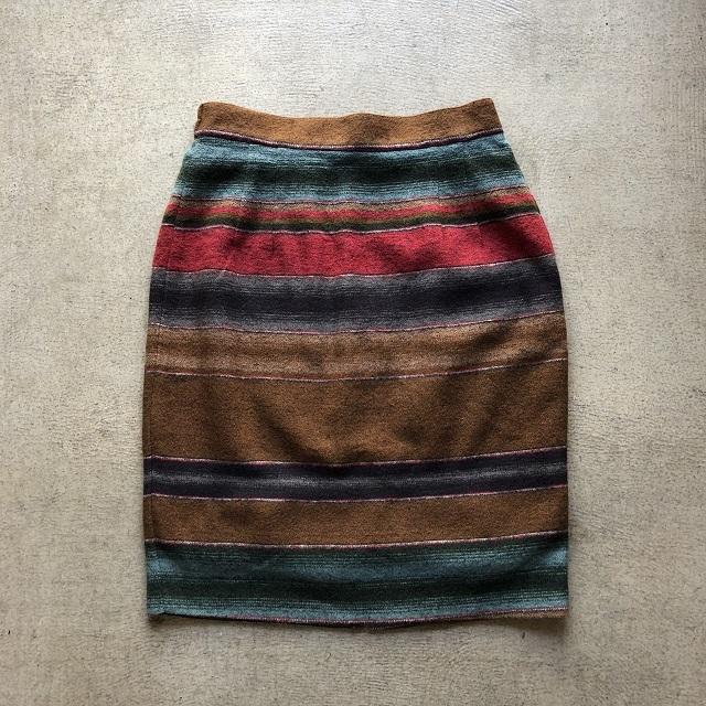 Native Border Wool Skirt #BT-205