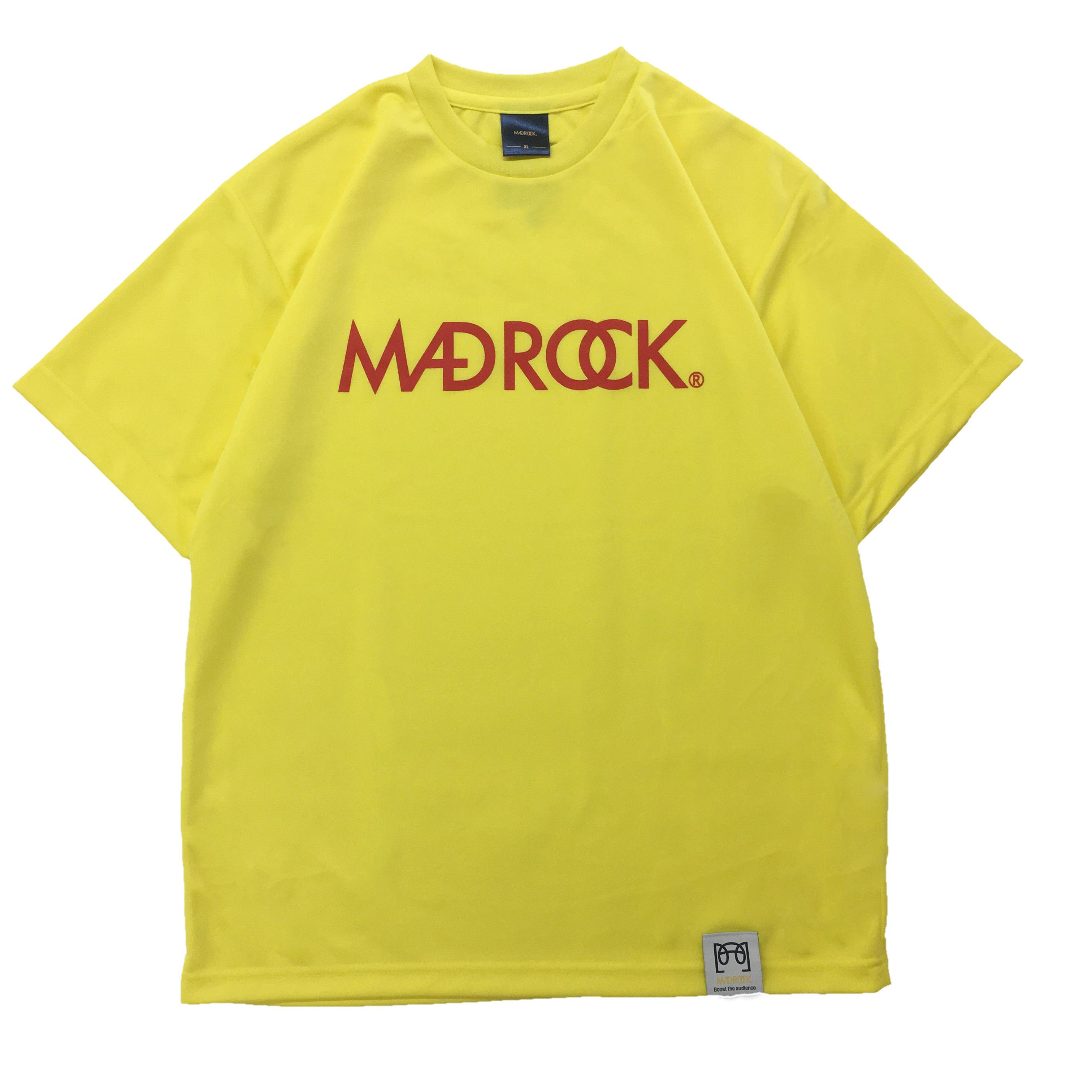 【新作/オンラインストア限定】マッドロックロゴ Tシャツ / ドライタイプ / イエロー & レッド