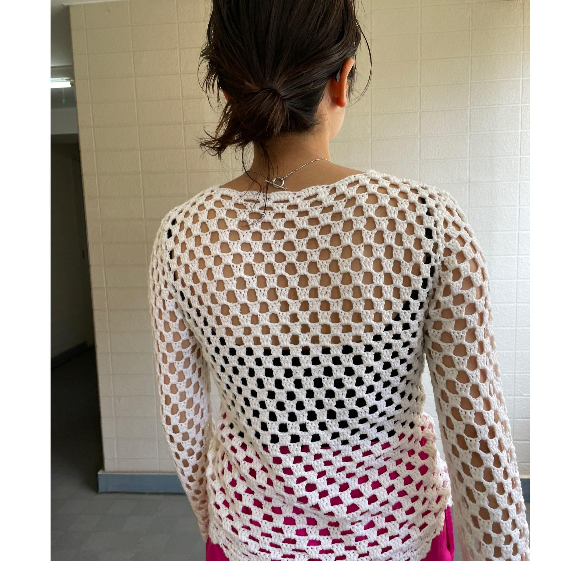 Flower crochet knit long sleeve