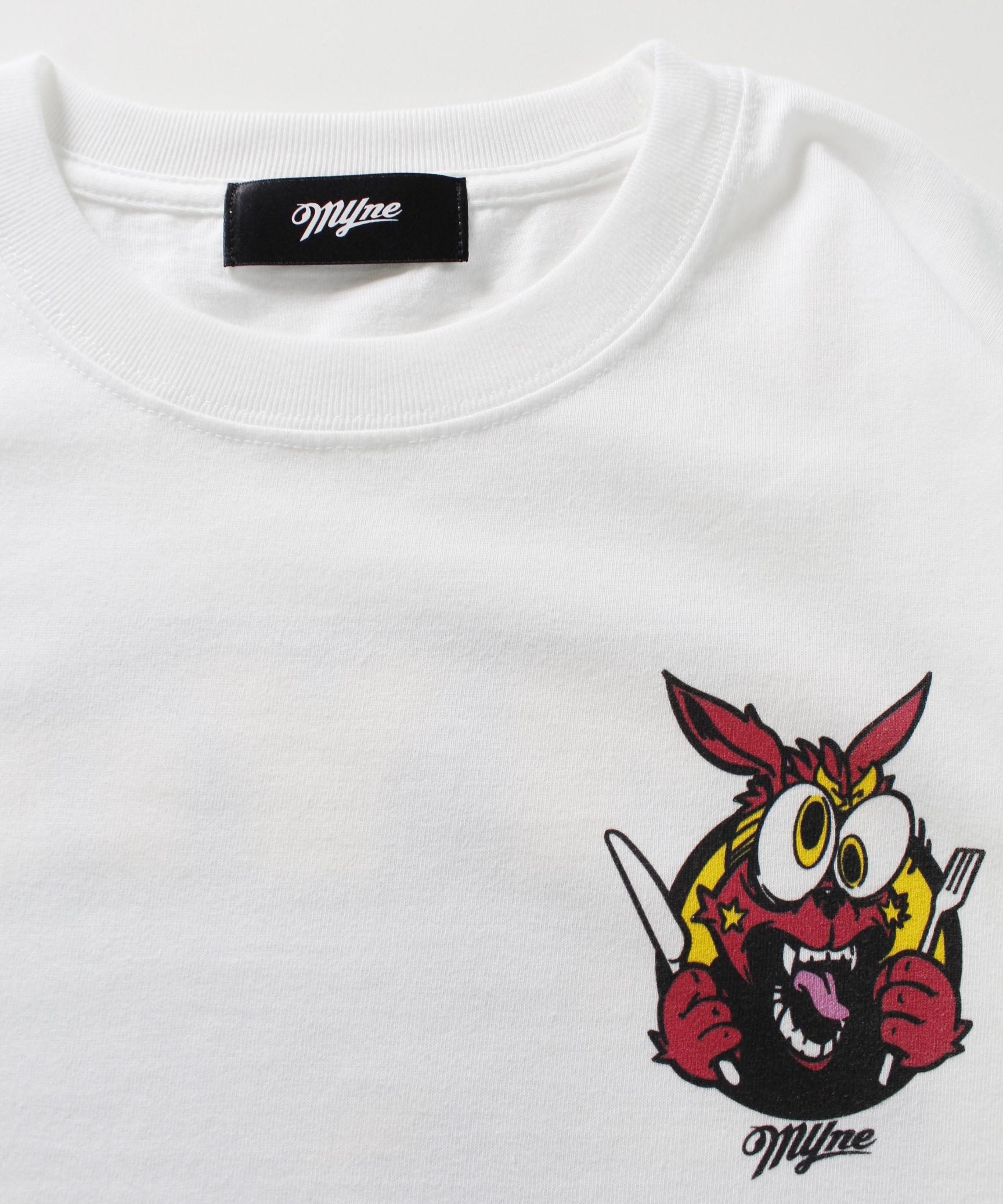 MYne CODEX 別注 L/S T-shirt / WHITE - 画像2