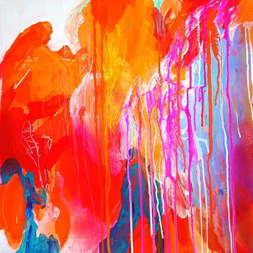 絵画 インテリア アートパネル 雑貨 壁掛け 置物 おしゃれ 抽象画 現代アート ロココロ 画家 : tamajapan 作品 : t-04