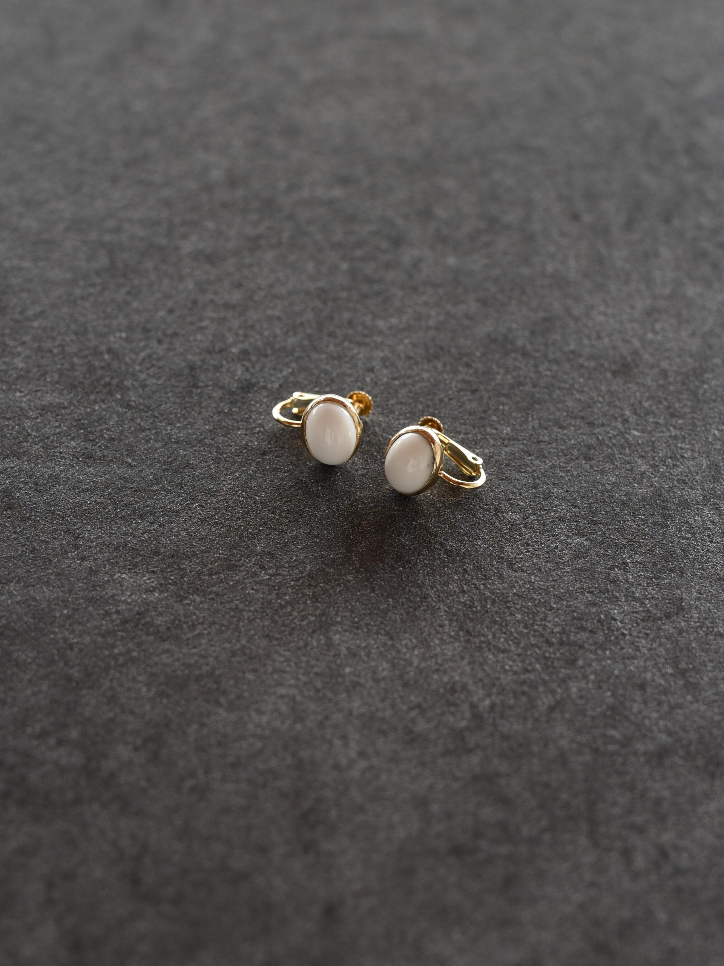 accessories mau|E-61ホワイトオニキスオパールイヤリング