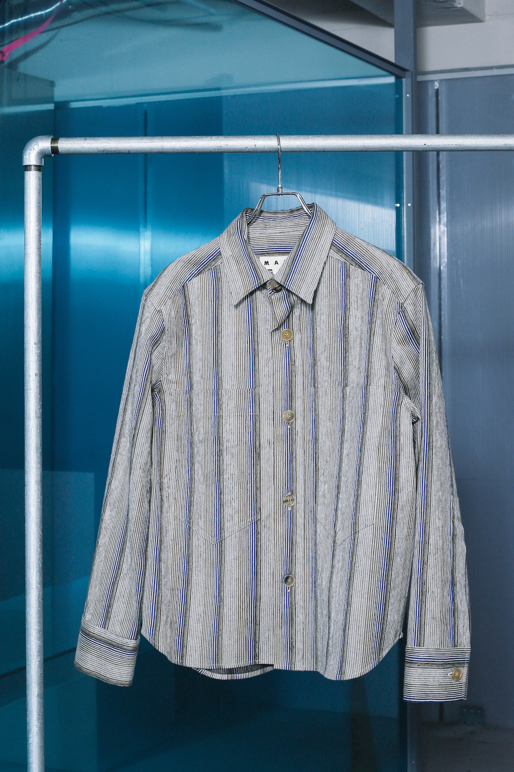 """MARNI"" Cotton Stripe Jacket"
