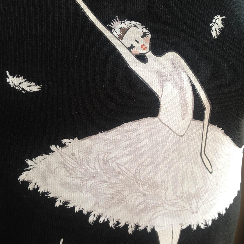 (即日発送・S/L完売)★ロパートキナコラボ★ 瀕死の白鳥Tシャツ(レディース) - 画像4