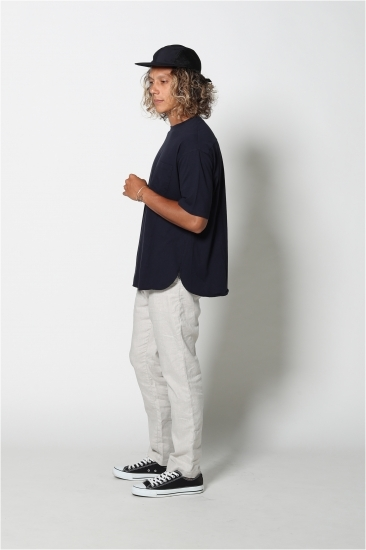 edit clothing Drapy center box tee(ドレーピーセンターボックスT/ネイビー)