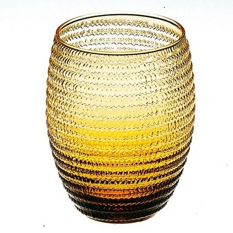 IVV  amber HeliXglass 【イタリア製ガラス食器】