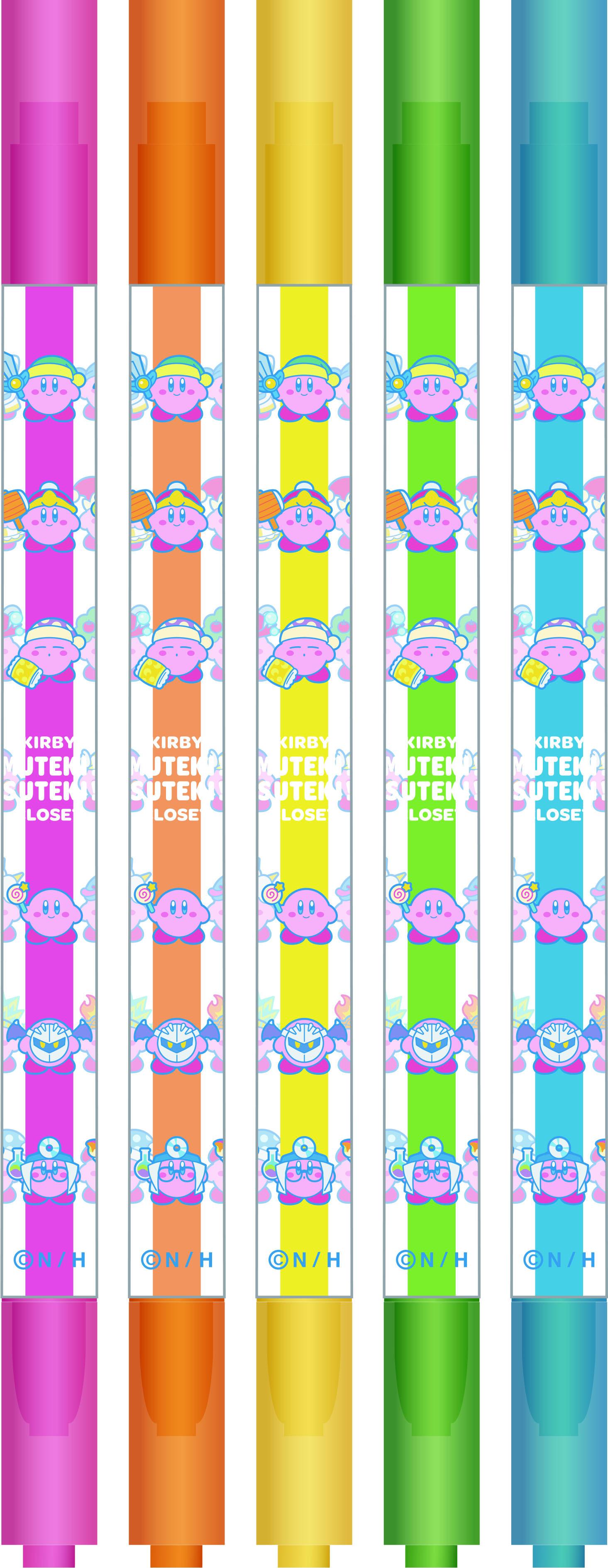 星のカービィ KIRBY MUTEKI! SUTEKI! CLOSET ケース付き蛍光ペンセット /  エンスカイ