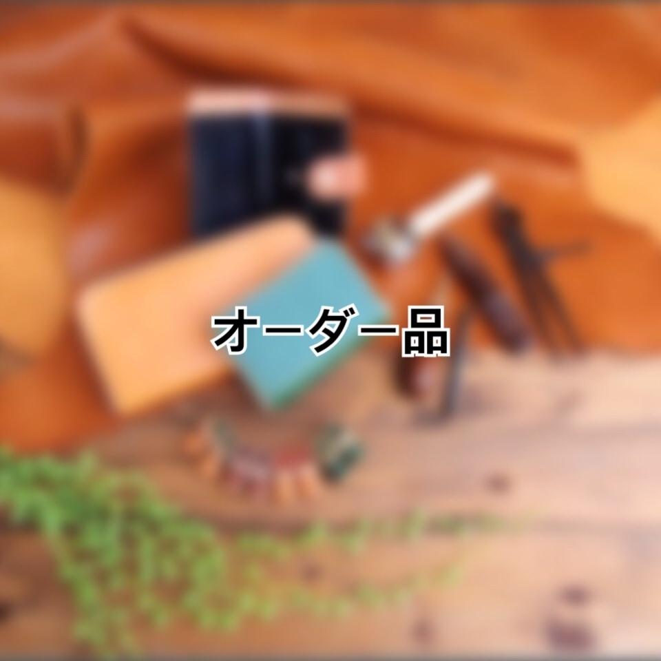 【オーダー品】A様 ねこちゃんのインレイ付き ラウンドファスナーの長財布(KA234b2)