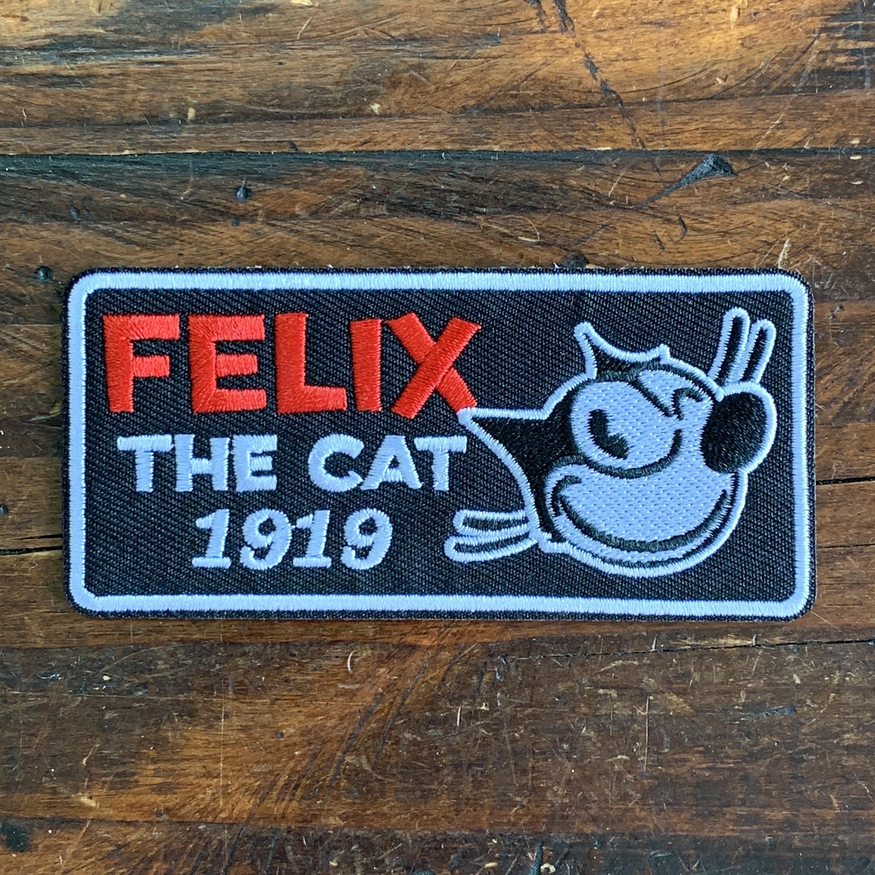 [FELIX]フィリックス 刺繍ワッペン・パッチ・アイロン糊付き・クラシック(A)ウィンク