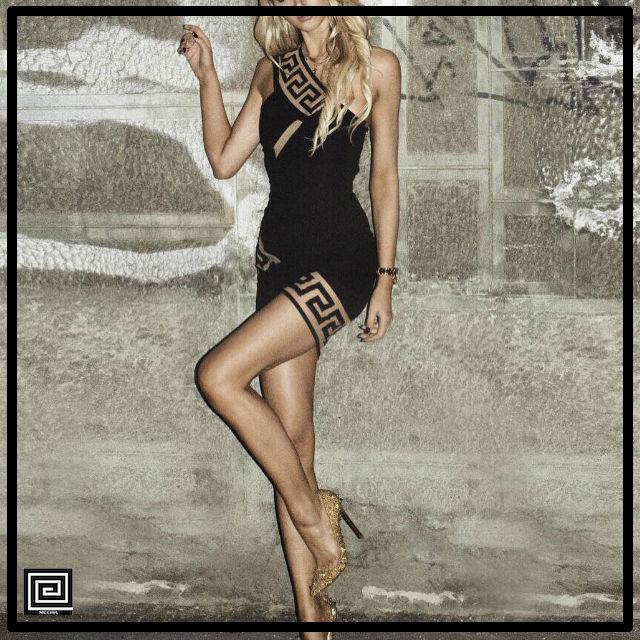 ワンショルダーアシメトリーカットバンテージドレス