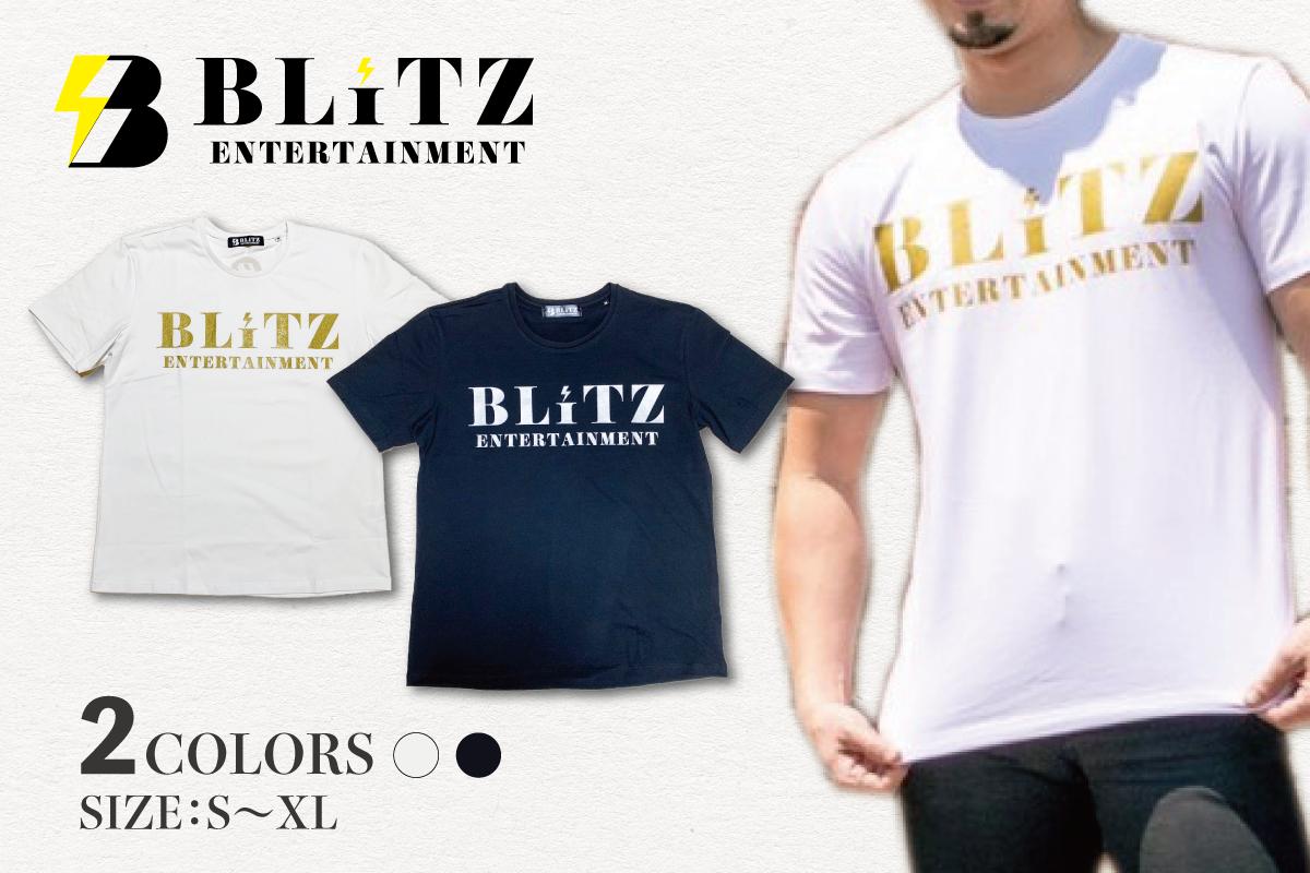BLiTZ文字Tシャツ(ホワイト、ブラック)