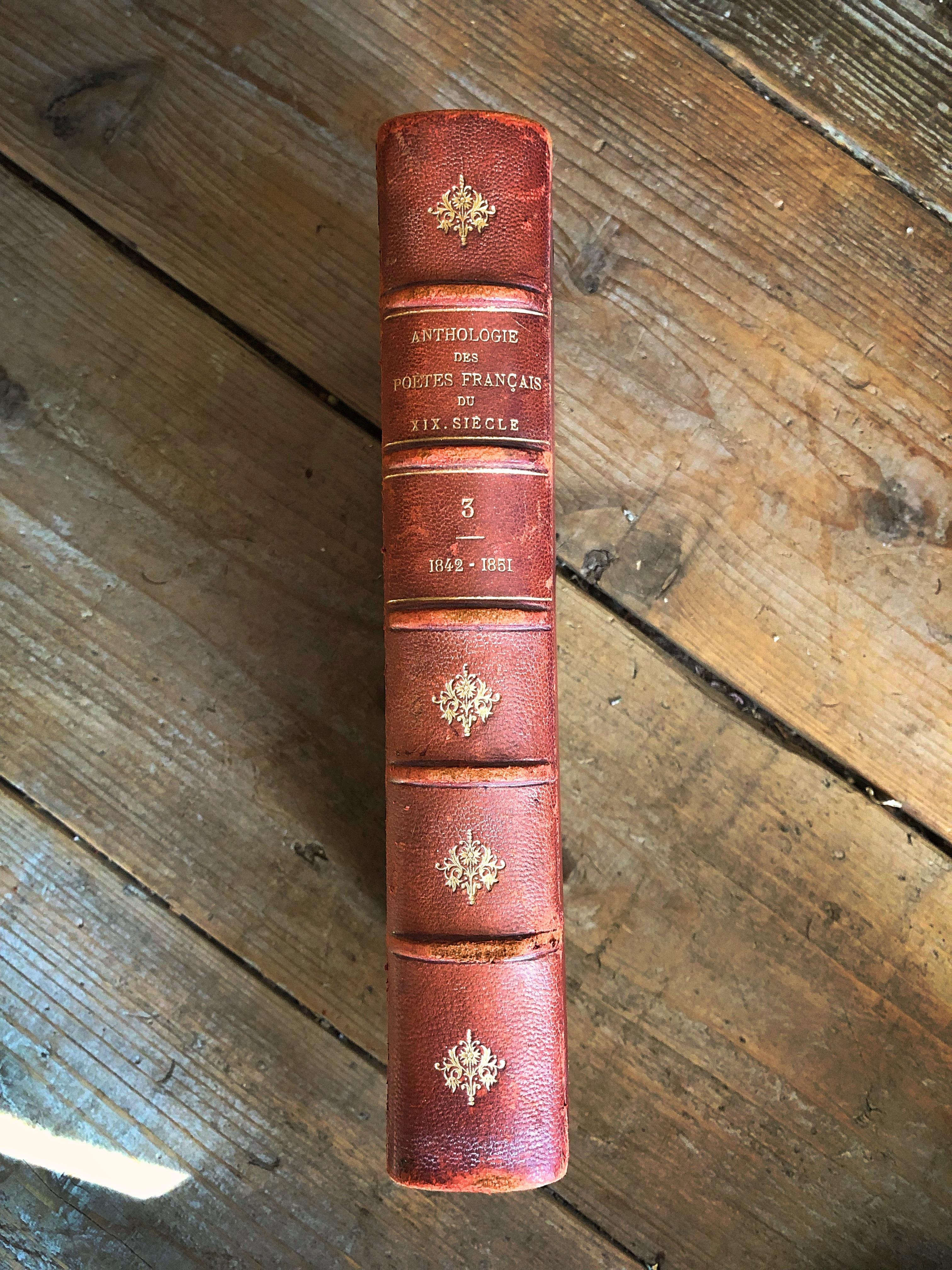 フランスアンティーク古書 古本 19世紀 詩集 no.3