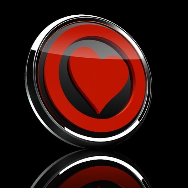 ゴーバッジ(3D)(LC0024 - 3D HEART RED) - 画像2